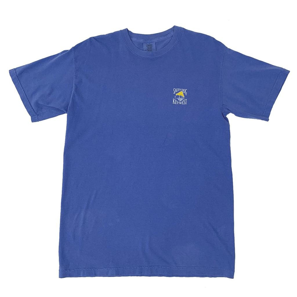 T-Shirt Key West Comfort Colors Short Sleeve in Flo Blue