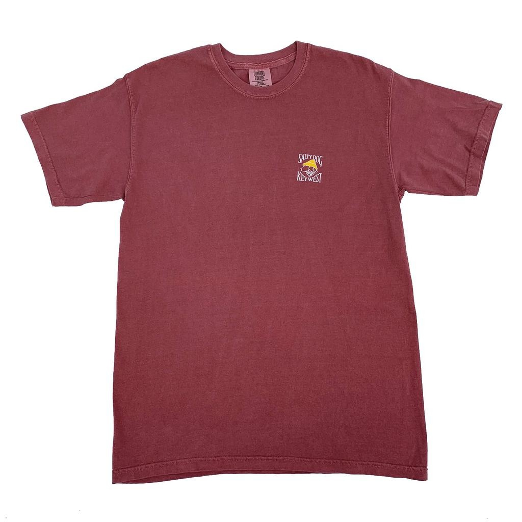 T-Shirt Key West Comfort Colors Short Sleeve in Crimson