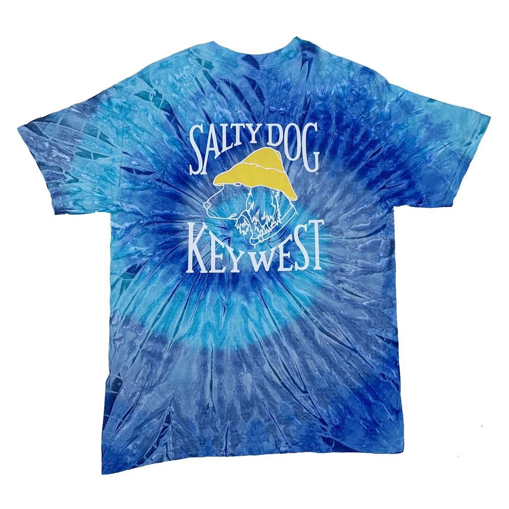 T-Shirt Key West Tie Dye in Blue Jerry