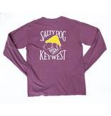 T-Shirt Key West Comfort Colors Long Sleeve in Berry
