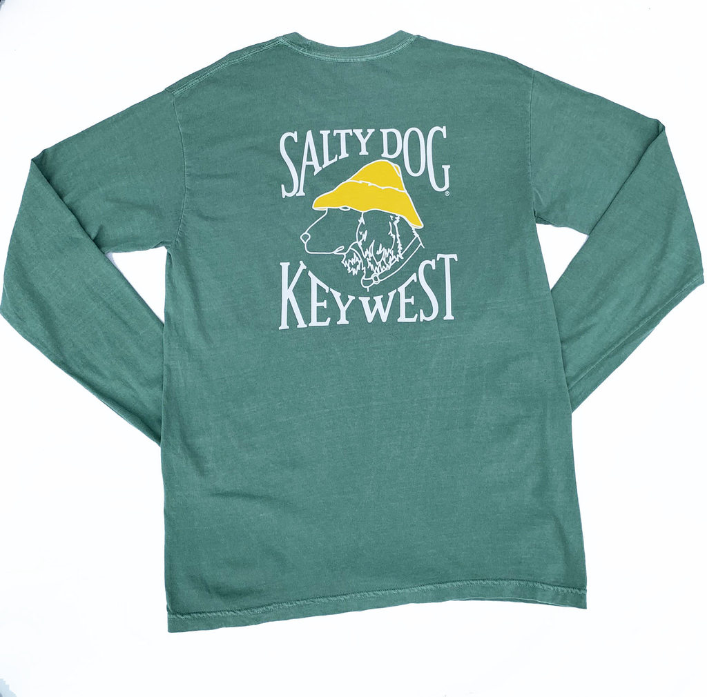 T-Shirt Key West Comfort Colors Long Sleeve in Light Green