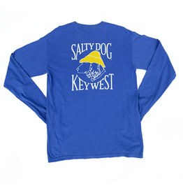 T-Shirt Key West Comfort Colors Long Sleeve in Flo Blue