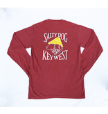 T-Shirt Key West Comfort Colors Long Sleeve in Crimson