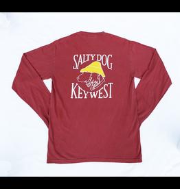 T-Shirt Key West Comfort Colors Long Sleeve in Crimson