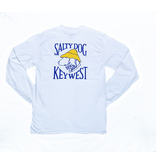 T-Shirt Key West Hanes Beefy Long Sleeve in White