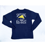 T-Shirt Key West Hanes Beefy Long Sleeve in Navy