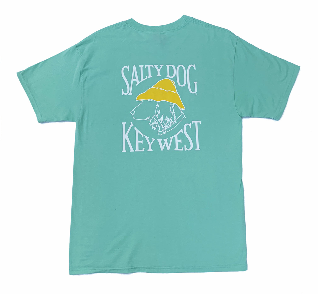 T-Shirt Key West Hanes Beefy Short Sleeve in Clean Mint