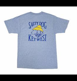 T-Shirt Key West Hanes Beefy Short Sleeve in Light Steel