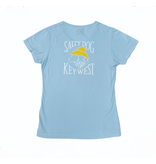 T-Shirt Key West Women's V-neck in Chambray