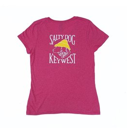 T-Shirt Key West Women's Triblend V-Neck in Jazzberry