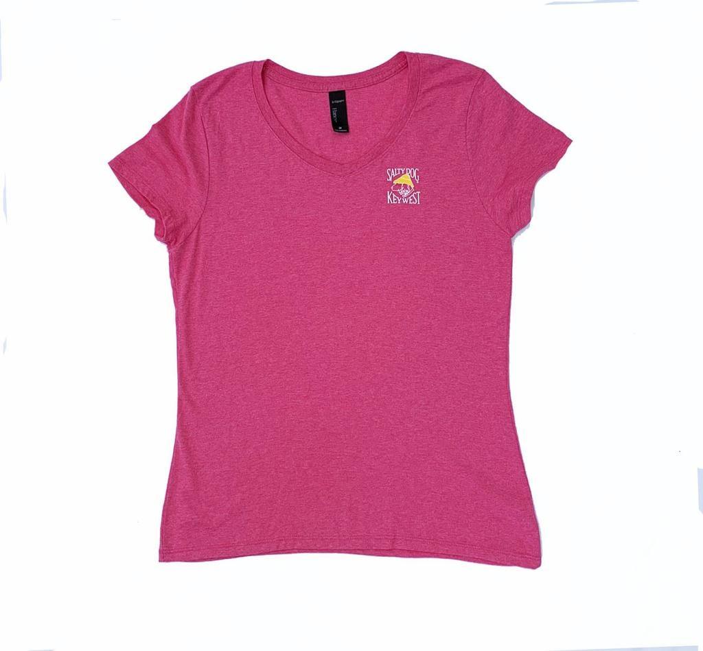 T-Shirt Key West Women's Triblend V-Neck in Jazzberry