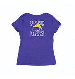 T-Shirt Key West Women's Triblend V-Neck in Grape