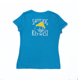 T-Shirt Key West Women's Triblend V-Neck in Turquoise