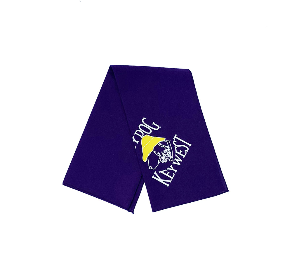 T-Shirt Key West Purple Large Bandana