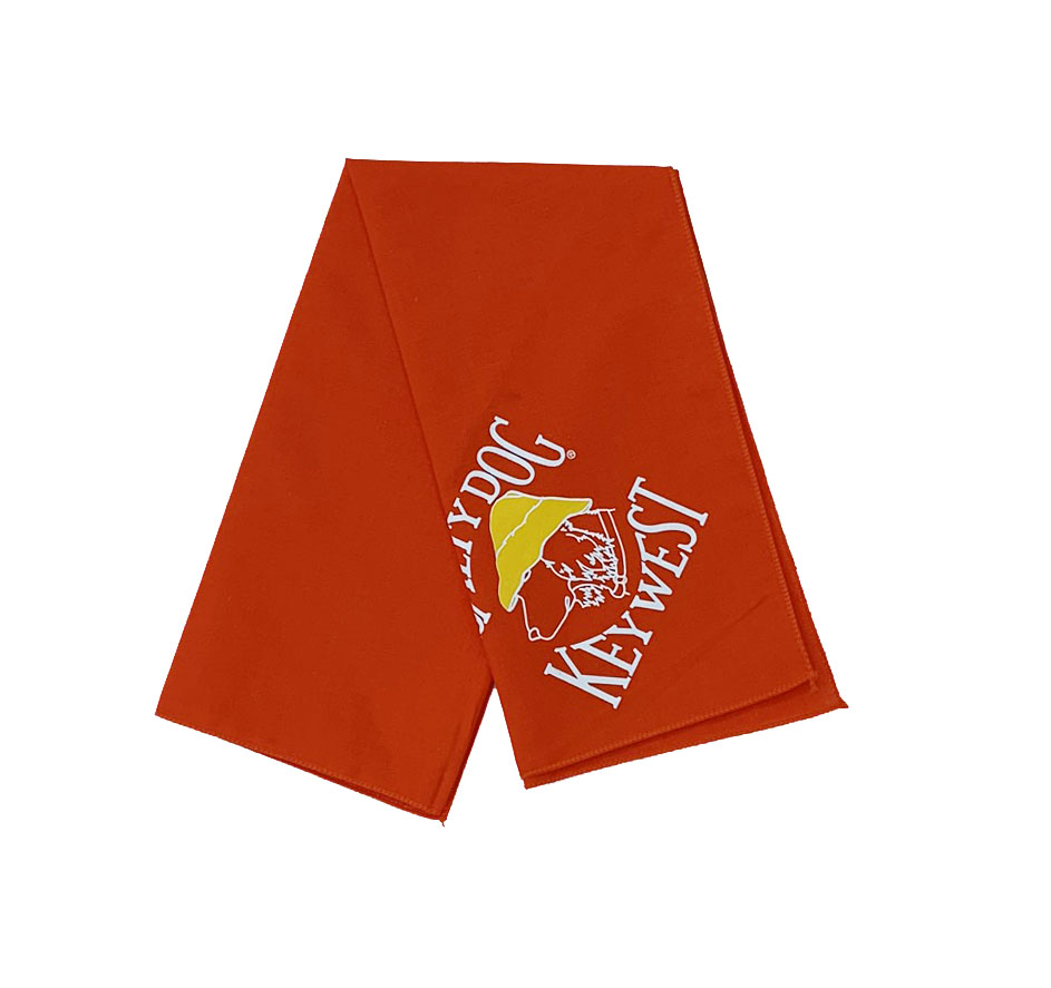 T-Shirt Key West Orange Large Bandana