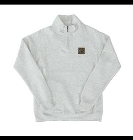 Sweatshirt Women's Fleece 1/4 Zip in Oatmeal