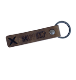 Product Leather Distressed Brown Key FOB