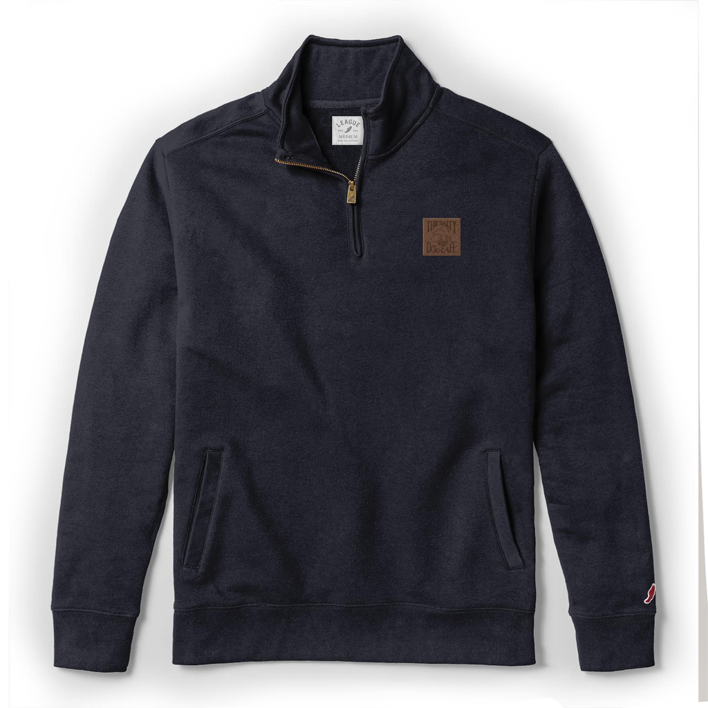 Sweatshirt Fleece 1/4 Zip in Navy