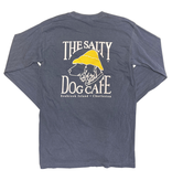 T-Shirt Bohicket Comfort Colors Long Sleeve in Navy