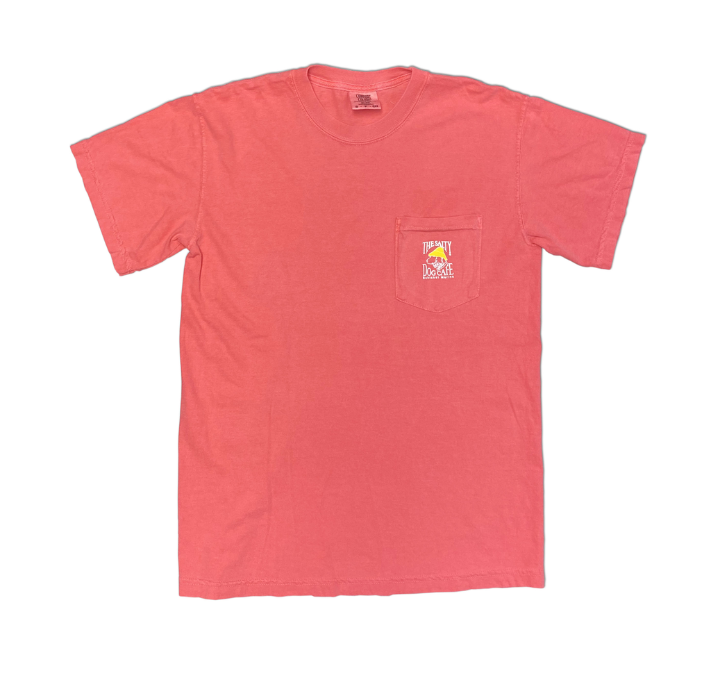 T-Shirt Bohicket Comfort Colors Short Sleeve Pocket in Watermelon