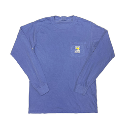 T-Shirt Bohicket Comfort Colors Long Sleeve Pocket in Flo Blue