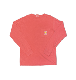 T-Shirt Bohicket Comfort Colors Long Sleeve Pocket in Watermelon