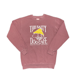 Sweatshirt Bohicket Pigment Dyed Crew Sweatshirt in Maroon