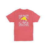 T-Shirt Bohicket Garment Dyed Tee in Coral