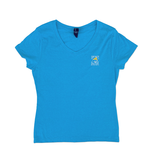Hanes Bohicket Women's Triblend V-Neck in Turquoise