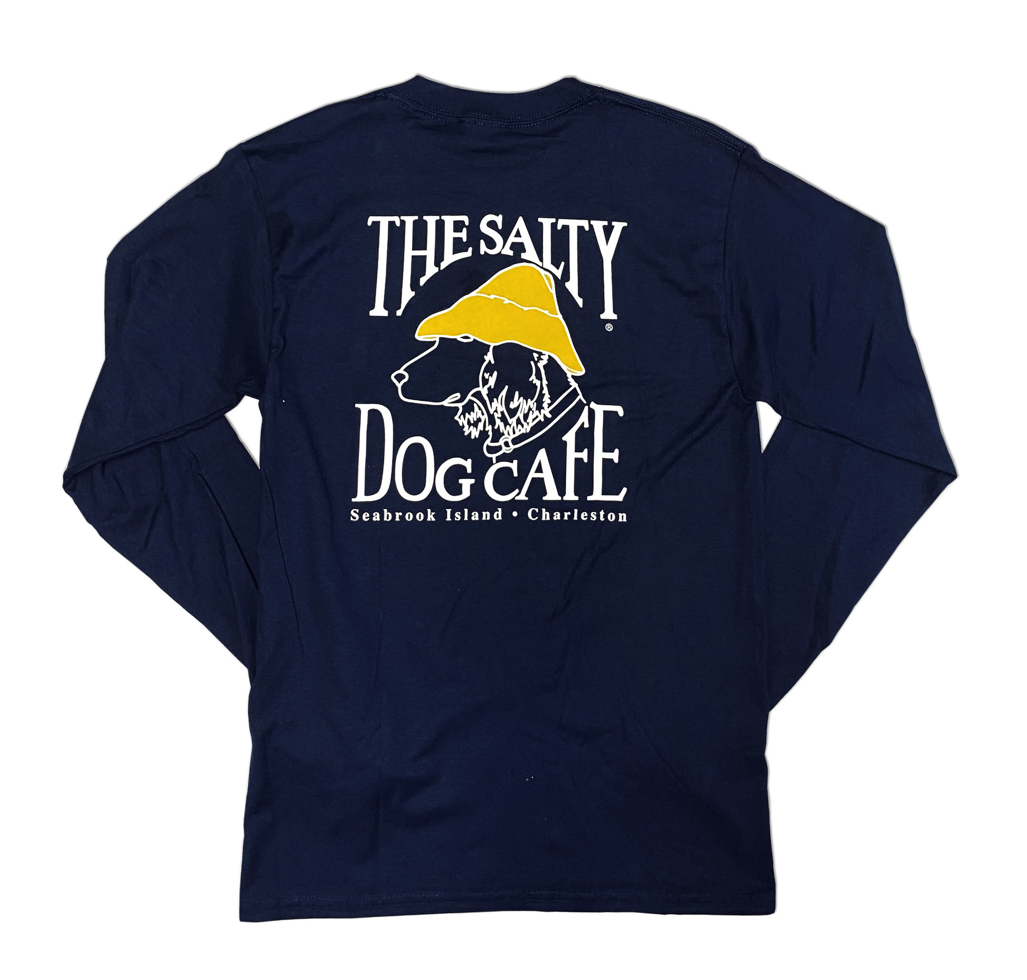 T-Shirt Bohicket Hanes Beefy Long Sleeve in Navy