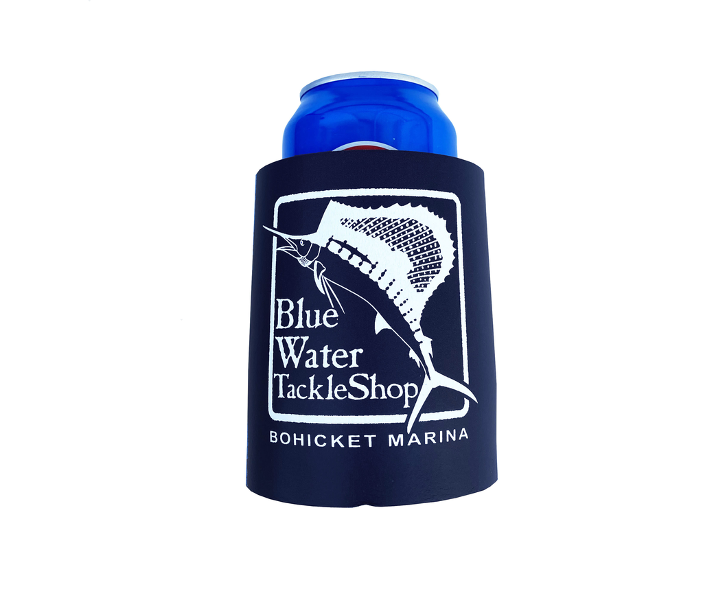 Product Blue Water Bohicket Foam Koozie in Navy