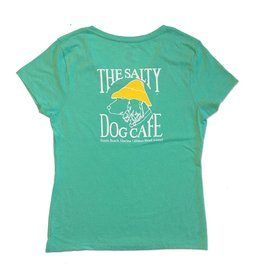 Hanes Women's Triblend V-Neck in Breezy Green