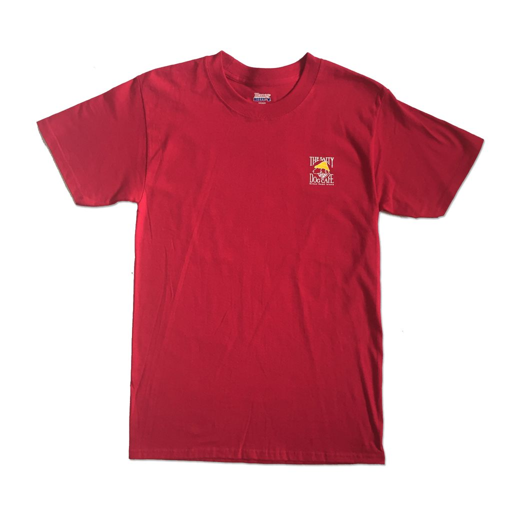 Hanes Hanes Beefy Short Sleeve in Deep Red