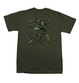 Hanes Camo Dog in Fatigue Green