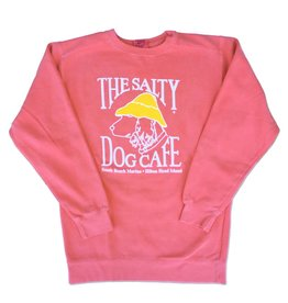 Comfort Colors Stonewash Sweatshirt in Watermelon