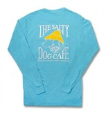 Comfort Colors Comfort Colors® Long Sleeve Pocket Tee in Lagoon Blue