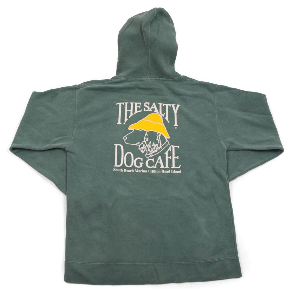 Sweatshirt Stonewash Hooded Sweatshirt in Light Green