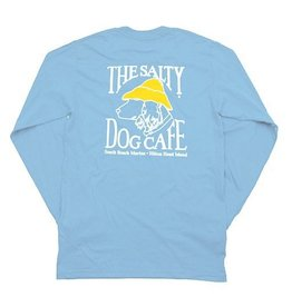 Hanes Hanes Beefy Long Sleeve Tee in Light Blue