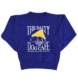 Hanes Youth Crew Neck Sweatshirt in Deep Royal