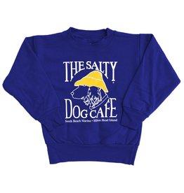Hanes Youth Crew Neck Sweatshirt in Deep Royal