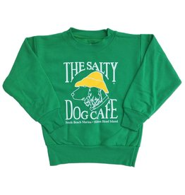 Hanes Youth Crew Neck Sweatshirt in Kelly Green
