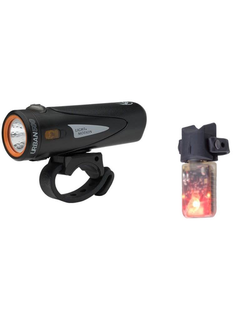 Light & Motion Light & Motion Combo Urban 500 USB Front Light Onyx and Vibe 50 Combo Set