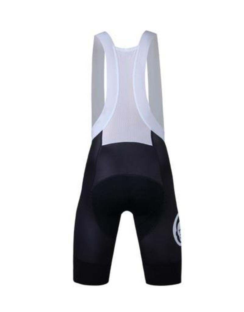 Two Monkeys Team Black w White Bib Shorts