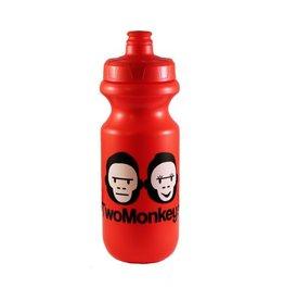 Two Monkeys Flow Water Bottle Red