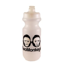 Two Monkeys Flow Water Bottle Clear