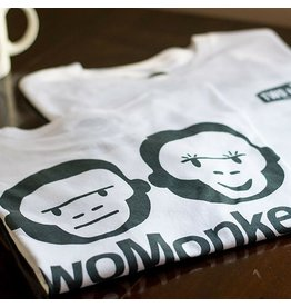 Two Monkeys Monkey Tee - White