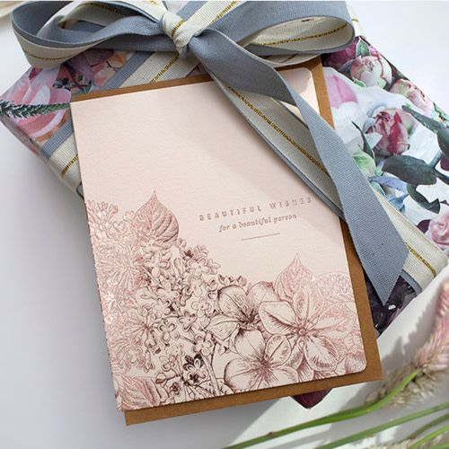 Bespoke Letter Press Bespoke Letterpress Beautiful Wishes for a Beautiful Person (Foil)