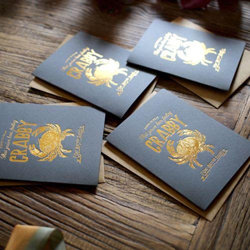 Bespoke Letter Press Bespoke Letterpress Greeting Card - Feeling Crabby