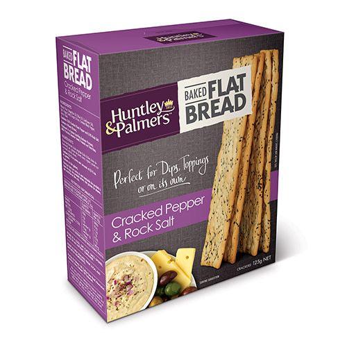 Huntley & Palmers Huntley & Palmers Flat Bread Cracked Pepper & Rock Salt 125g
