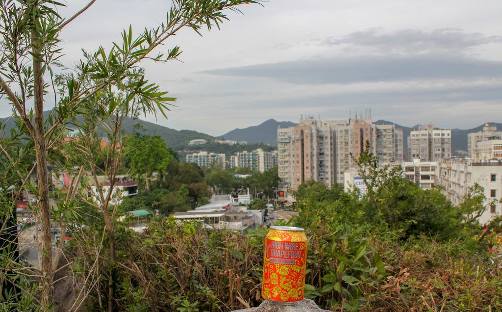sai kung park view and a magic rock beer